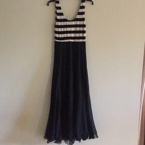 Alice + Olivia stripe top silk chiffon dress, 8.